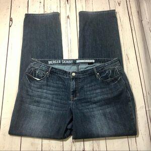 DKNY Jeans Mercer Skinny Jean Dark Wash Size 16